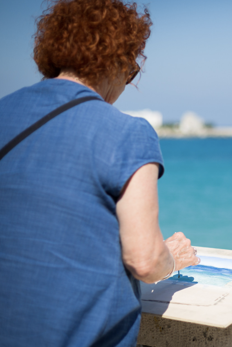 Why not try painting in Sardinia?